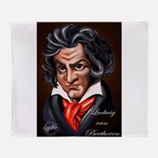 Beethoven Caricature Throw Blanket