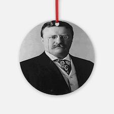 Theodore Roosevelt Round Ornament