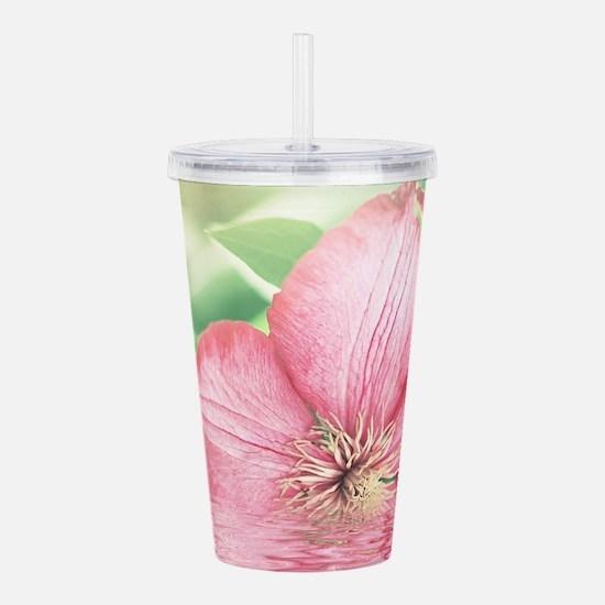 Water Flower Acrylic Double-wall Tumbler