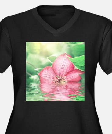 Water Flower Plus Size T-Shirt