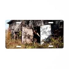 Tobacco Barn Aluminum License Plate