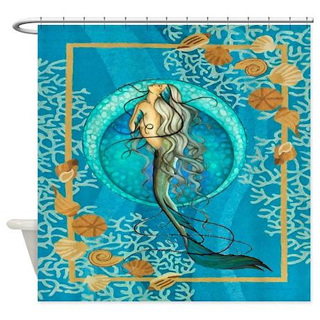 Nautical Mermaid Shower Curtain