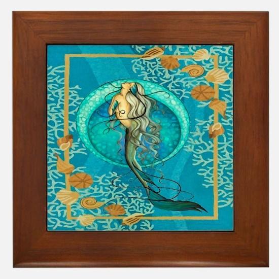 Nautical Mermaid Framed Tile
