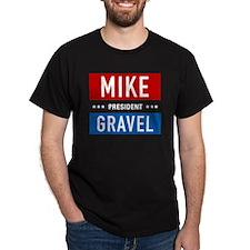 Gravel for President Black T-Shirt