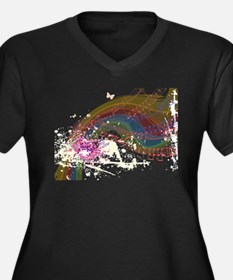 Colorful Music Plus Size T-Shirt