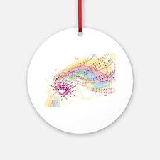 Colorful Music Round Ornament