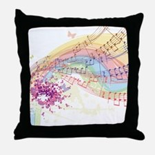 Colorful Music Throw Pillow