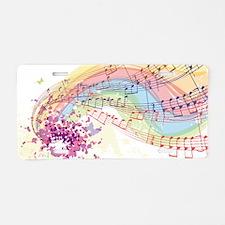 Colorful Music Aluminum License Plate