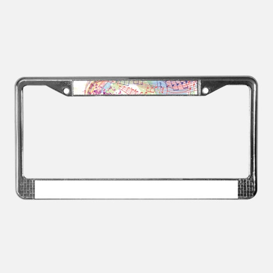 Colorful Music License Plate Frame
