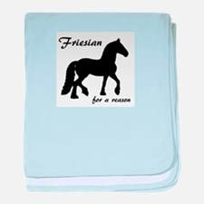 Friesian for a reason baby blanket