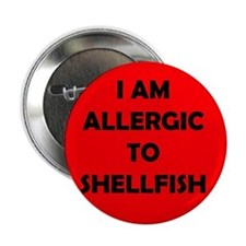 Red Shellfish Allergy Button