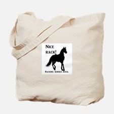 Nice Rack! Racking horses rock Tote Bag