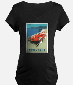 Vintage poster - French Riviera Maternity T-Shirt