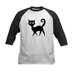 Cat With Green Eyes Kids Baseball Jersey