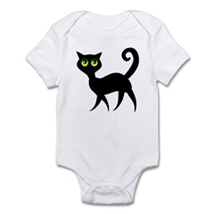 Cat With Green Eyes Infant Bodysuit