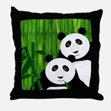 Pandapanda Throw Pillow