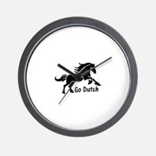 HORSE - Go Dutch - Warmblood design - K Wall Clock
