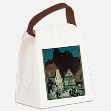 Unique Wpa travel vintage retro Canvas Lunch Bag