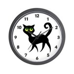 Cat With Green Eyes Wall Clock