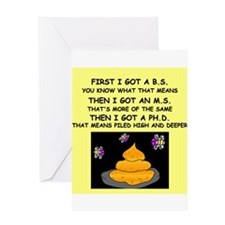 PHD GIFTS HUMOR PRESENTS Greeting Card