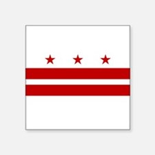 "Funny District columbia flag Square Sticker 3"" x 3"""