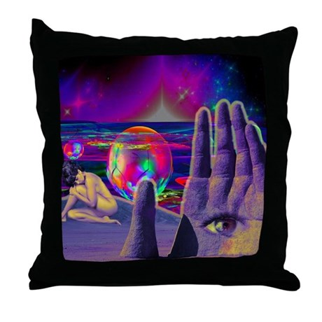 Funny Trippy Throw Pillow