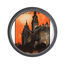 Vintage poster- Krakow Wall Clock