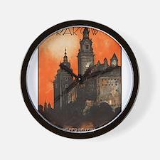 Vintage poster- Krakow Wall Clock
