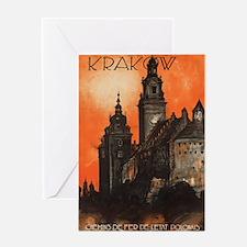 Vintage poster- Krakow Greeting Cards