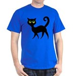 Cat With Green Eyes Dark T-Shirt