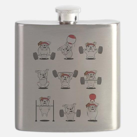 Crossfit Bulldogs Flask