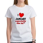 January 24th Women's T-Shirt