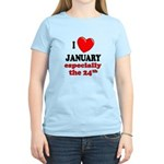 January 24th Women's Light T-Shirt