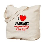 January 24th Tote Bag