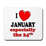 January 24th Mousepad