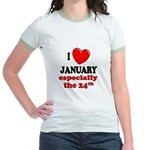 January 24th Jr. Ringer T-Shirt