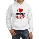 January 24th Hooded Sweatshirt