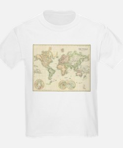 Vintage Map of The World (1872) T-Shirt