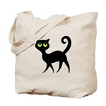 Cat With Green Eyes Tote Bag