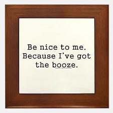 Funny Alcohol Framed Tile