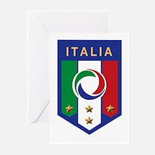 Italian Soccer emblem Greeting Cards (Pk of 10