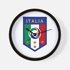 Italian Soccer emblem Wall Clock