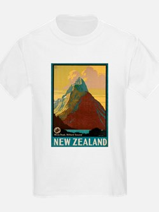 Vintage poster - New Zealand T-Shirt