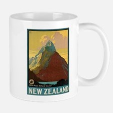 Vintage poster - New Zealand Mugs