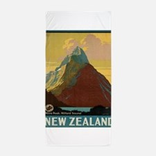 Vintage poster - New Zealand Beach Towel