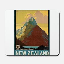 Vintage poster - New Zealand Mousepad