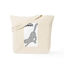 Digital Kitty Tote Bag