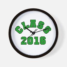 Class of 2016 Green Wall Clock