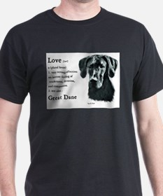 Cute Black great dane T-Shirt