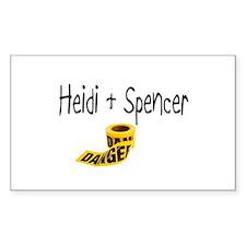 Heidi & Spencer_Danger Rectangle Decal